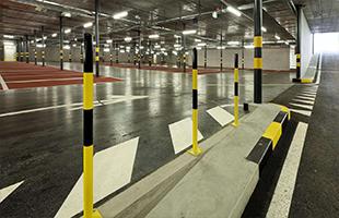 Разметка подземных парковок