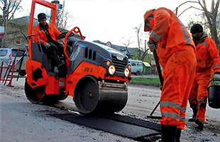 Ямочный ремонт асфальтобетонного покрытия